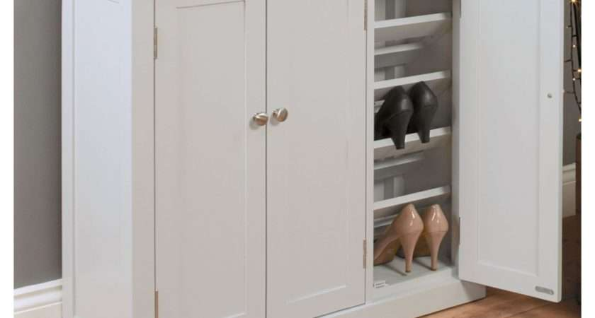 Chadwick Grey Painted Oak Hallway Furniture Large Shoe