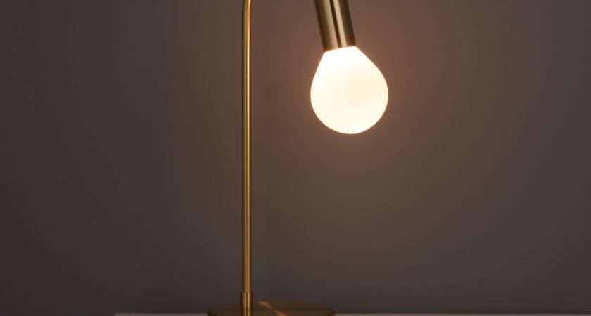 Channing Modern Gold Satin Brushed Table Lamp