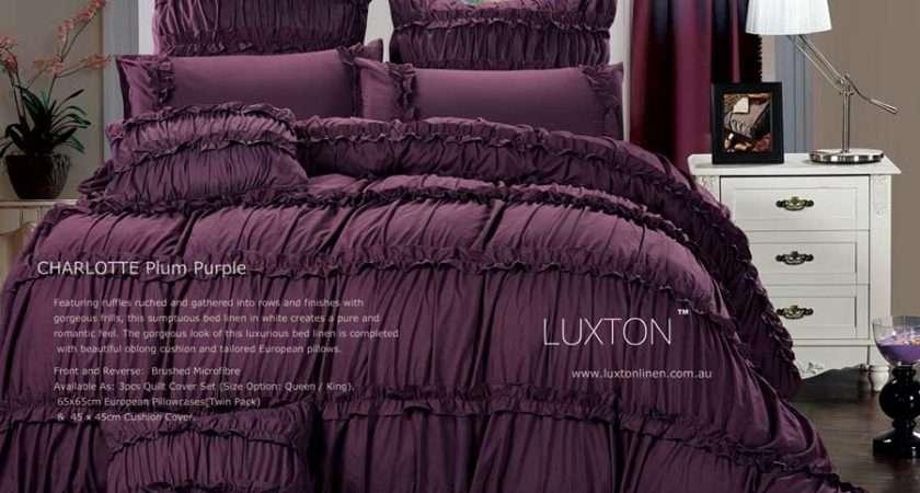Charlotte Plum King Duvet Quilt Cover Set Pcs Bed Linen