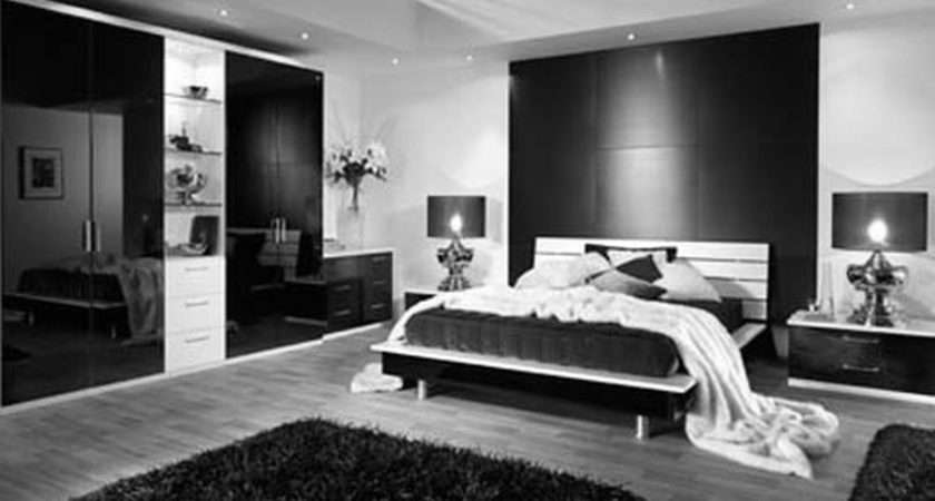 Charming Bedroom Modern Looking Furnishing Black