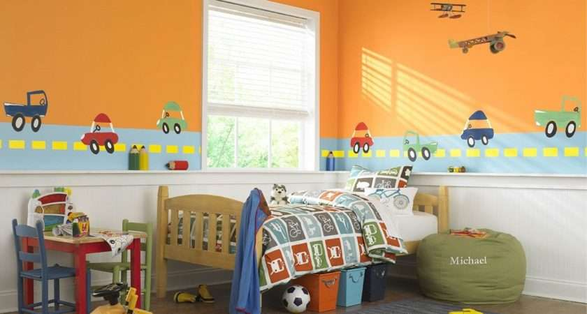 Charming Yellow Kids Room Paint Ideas Boys Bedroom