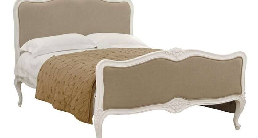 Chateau Antique White Painted French Linen Bed