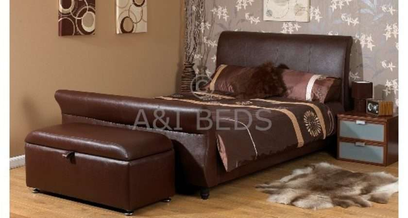 Cheap Barcelona Small Double Handmade Leather Bed