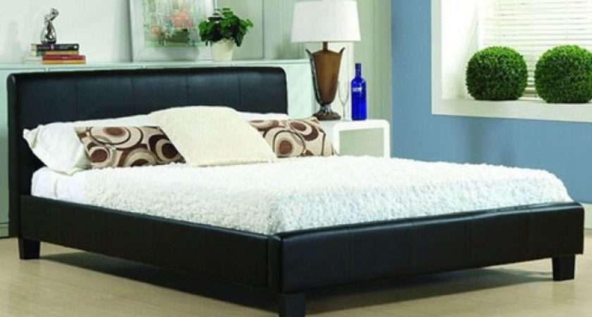 Cheap Bed Frame Double King Leather Beds Memory