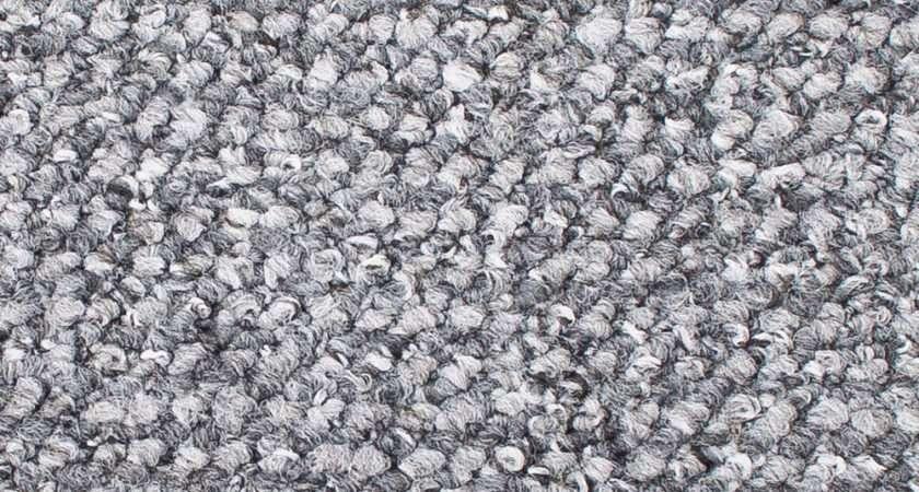 Cheap Hardwearing Grey Silver Flecked Looped Carpet