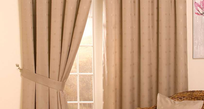 Cheap Lined Tape Top Pencil Pleat Jacquard Curtains