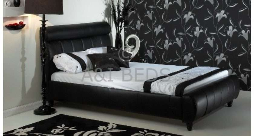 Cheap Small Double Diamond Handmade Real Leather Bed