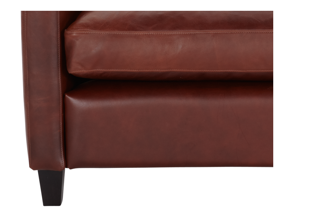 Chester Sofas Compact Sofa Dark Brown Leather