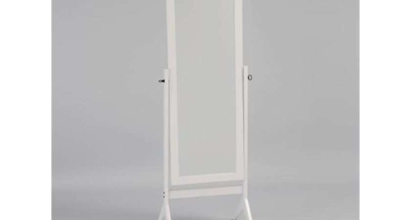 Cheval Mirror White Zoom