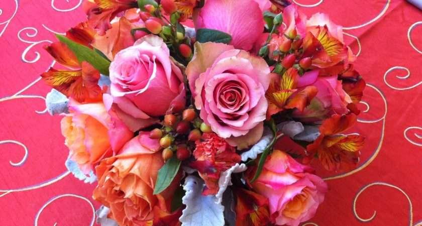 Chic Floral Designs Persimmon Wedding