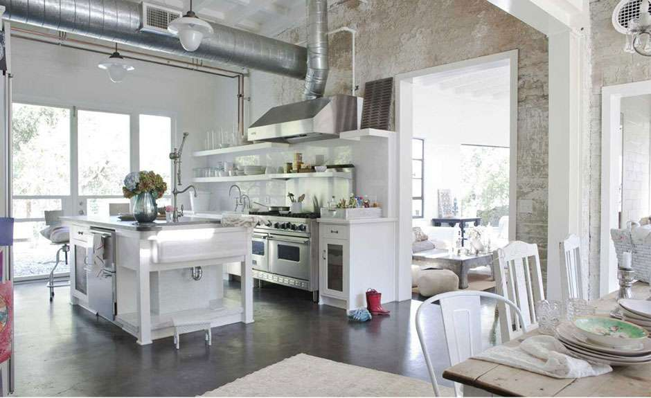 Chic Kitchen Shabby Interior Deluxe Dining