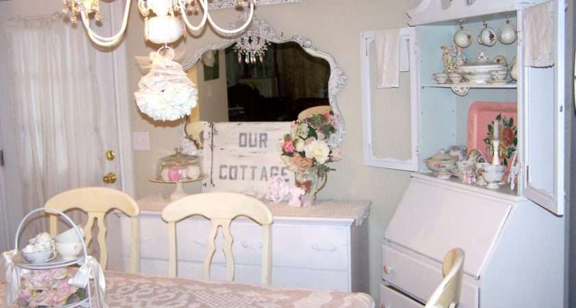 Chic Pink Blue Window Box Shabby Dining Room Furniture