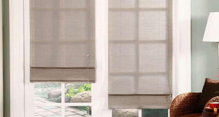 Chicology Roman Shade Jute Fabric Privacy Nevada Home