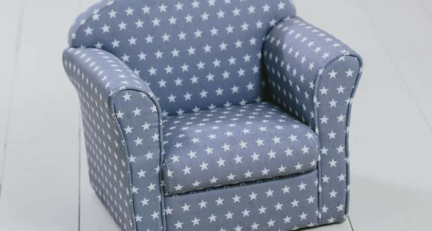 Children Armchair Grey White Stars Girl Boy Seating