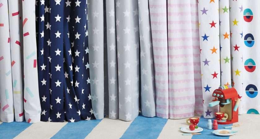 Children Blackout Curtains Navy Star Gltc