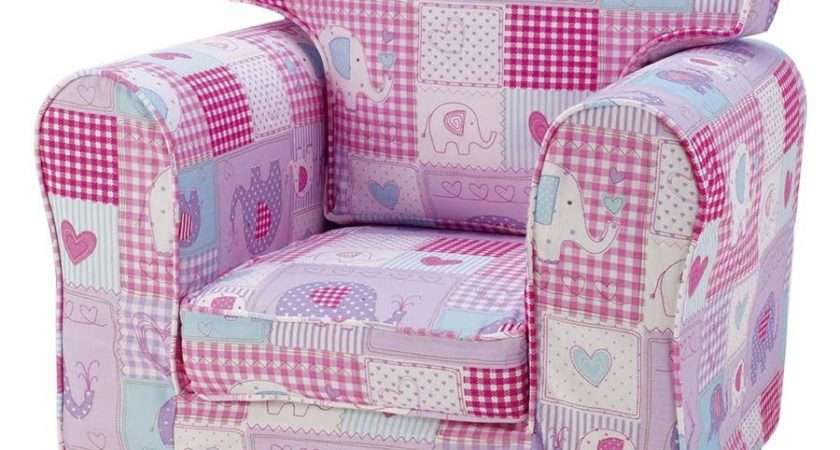 Children Chair Single Sofa Patchwork Elephants