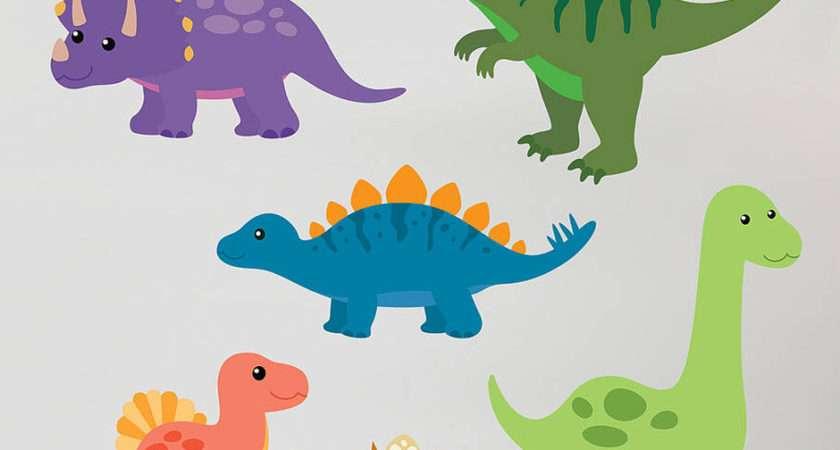 Children Dinosaur Wall Sticker Set Contemporary Stickers