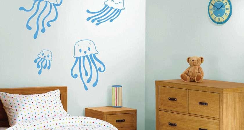 Children Jellyfish Wall Sticker Set Contemporary Stickers