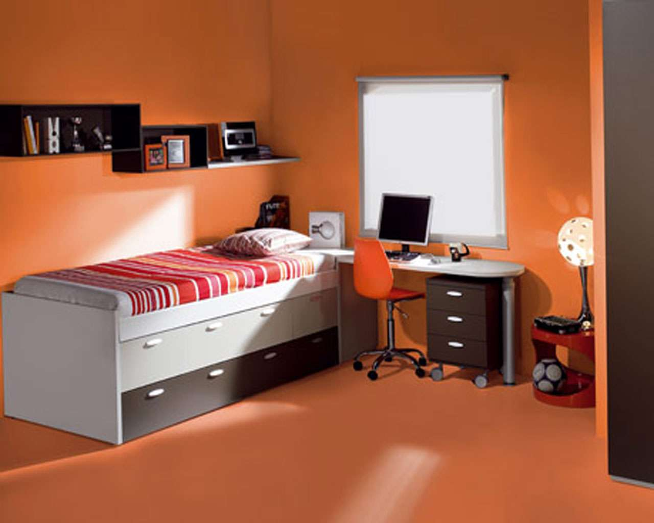 Children Orange Bedroom Ideas Terrys Fabrics Blog