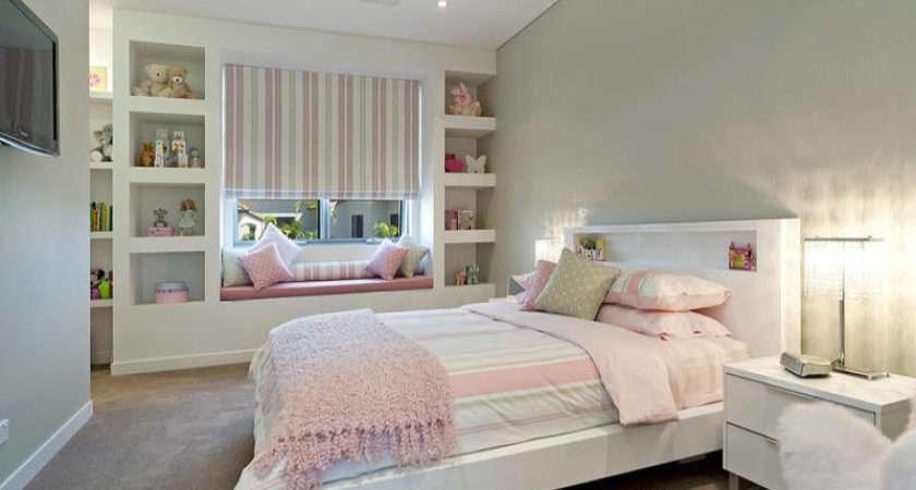 Children Room Bedroom Design Idea Carpet Built Shelving