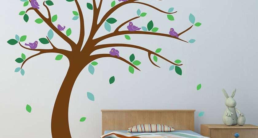 Children Tree Wall Sticker Set Contemporary Stickers
