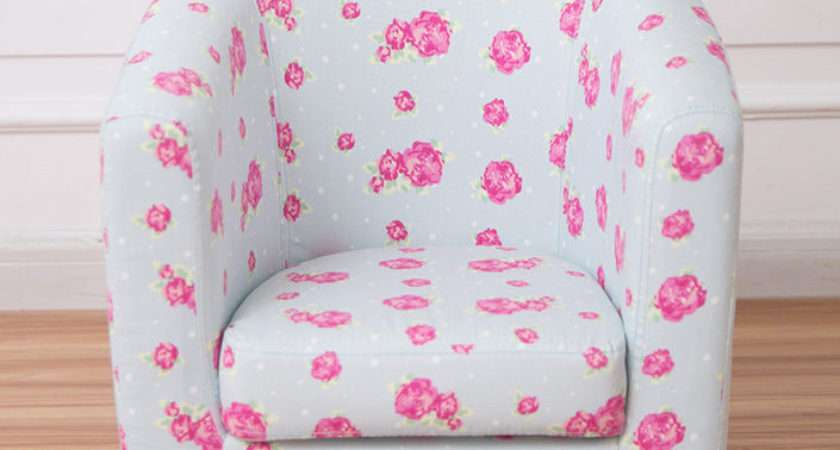 Children Tub Chair Kids Arm Fabric Upholstered