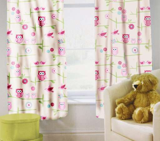 Childrens Nursery Bedroom Curtains Kids Junior Baby Pencil