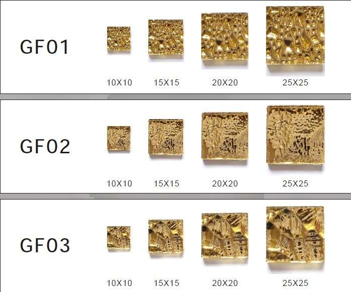 China Real Gold Leaf Mosaic Tiles Photos Made