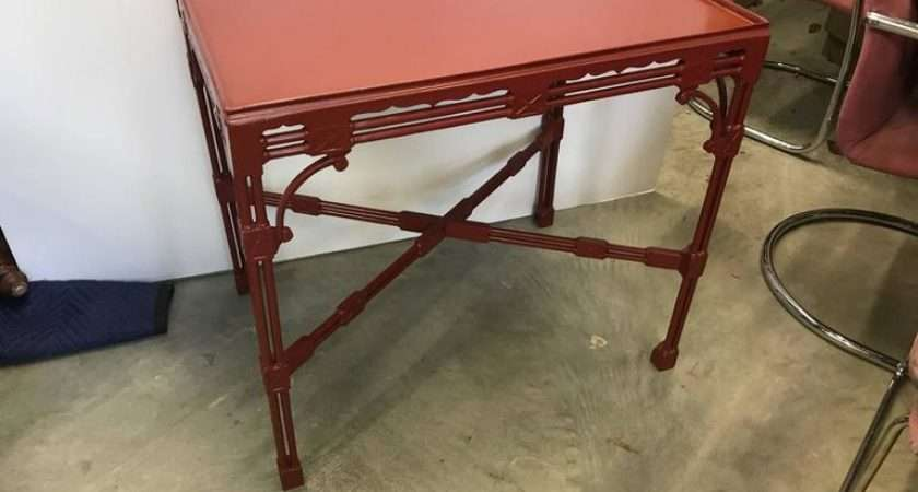 Chinese Chippendale Tea Table Cinnabar Red Sale