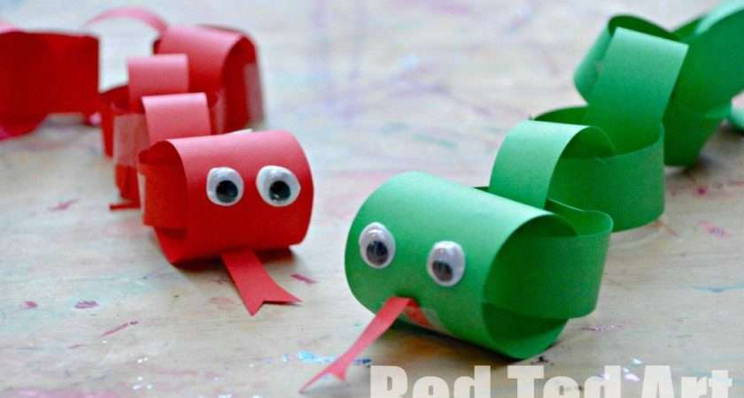 Chinese New Year Snake Craft Kids Paper Chain