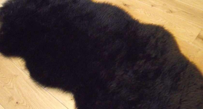 Chocolate Dark Brown Rugs Fluffy Bedroom Rug Faux Fur Sheepskin Mat