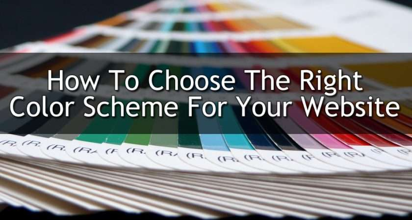 Choose Right Color Scheme Your Website Web Design