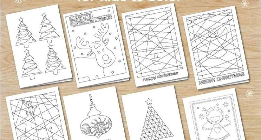 Christmas Cards Kids Colour Instant