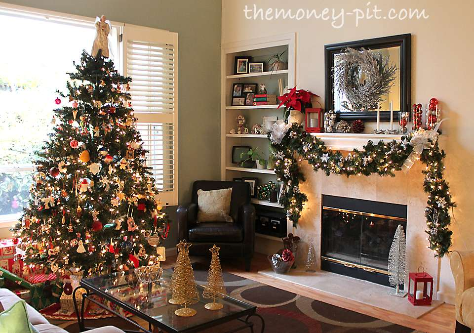 Christmas Decorated Living Rooms Homes Decoration Tips