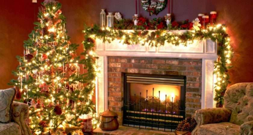 Christmas Decorating Ideas Fireplace Mantel