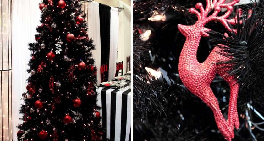 Christmas Decoration Ideas Black Trees