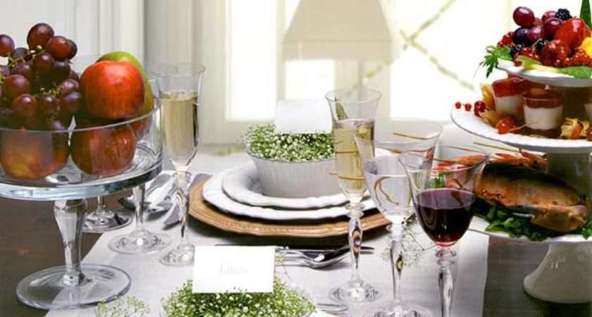 Christmas Dinner Table Decoration Ideas Freshome