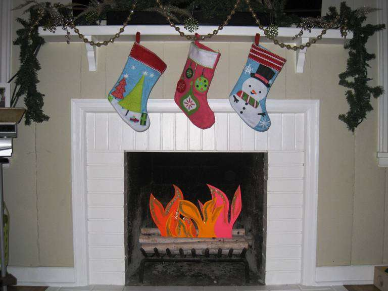Christmas Fake Fireplace