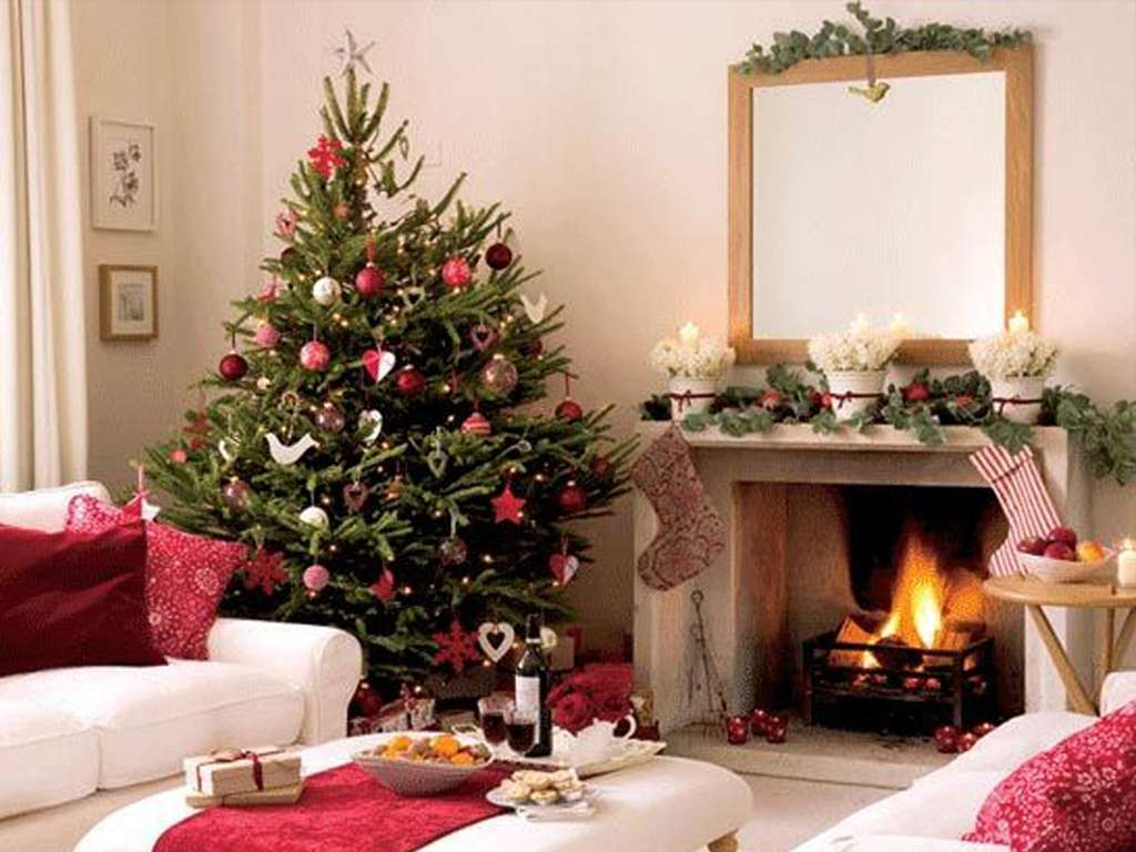 Christmas Fireplace Decorating Ideas Interior