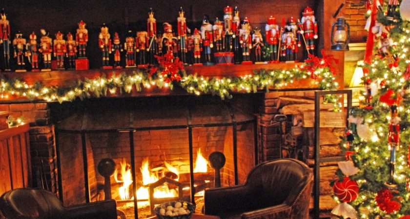 Christmas Fireplace Decorations Decor Cool