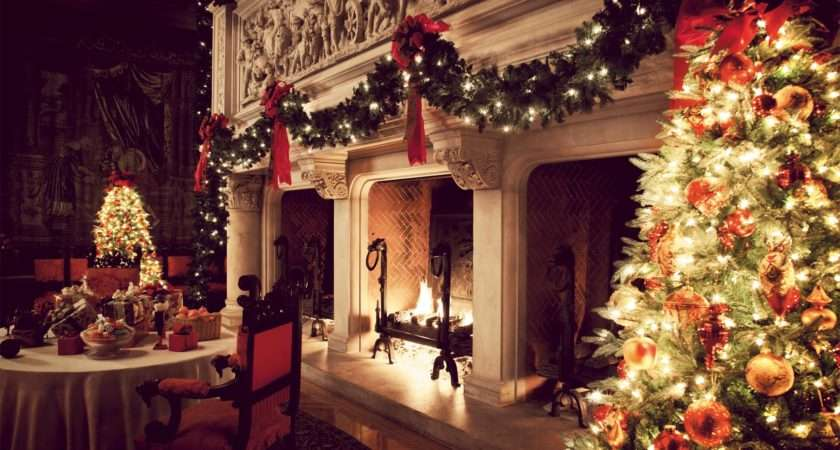 Christmas Fireplace Fire Holiday Festive Decorations