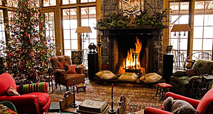 Christmas Fireplace Room Winter Favim