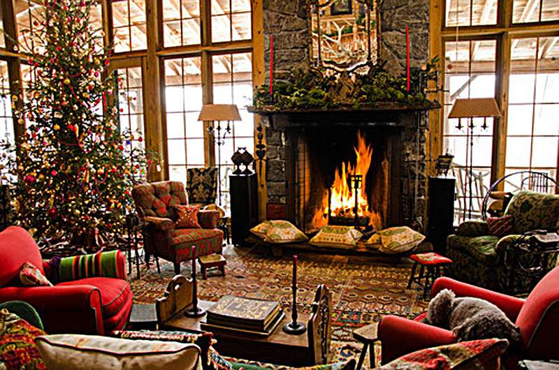 Christmas Fireplace Room Winter Favim