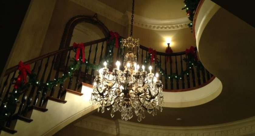 Christmas Garland Stair Hall Home Sweet Pinterest