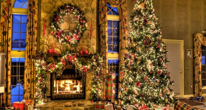Christmas Living Room Curtains