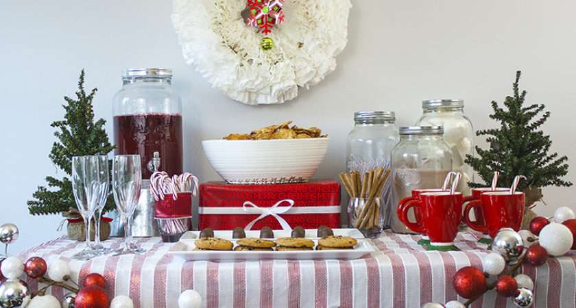 Christmas Party Food Table Decorations
