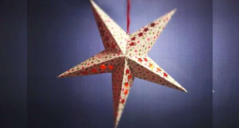 Christmas Star Making Step Paper Template
