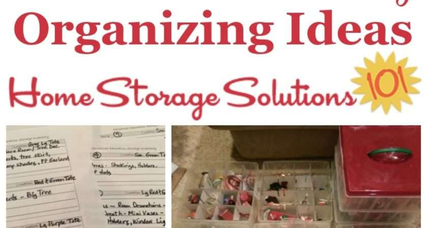 Christmas Storage Solutions Holiday Organizing Ideas
