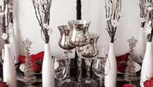 Christmas Table Decorations Red White Design Decoration
