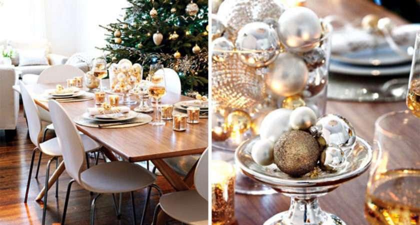 Christmas Table Gold Silver Ideas Glamor